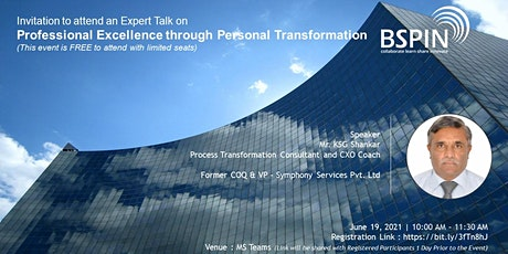 Professional Excellence through Personal Transformation billets