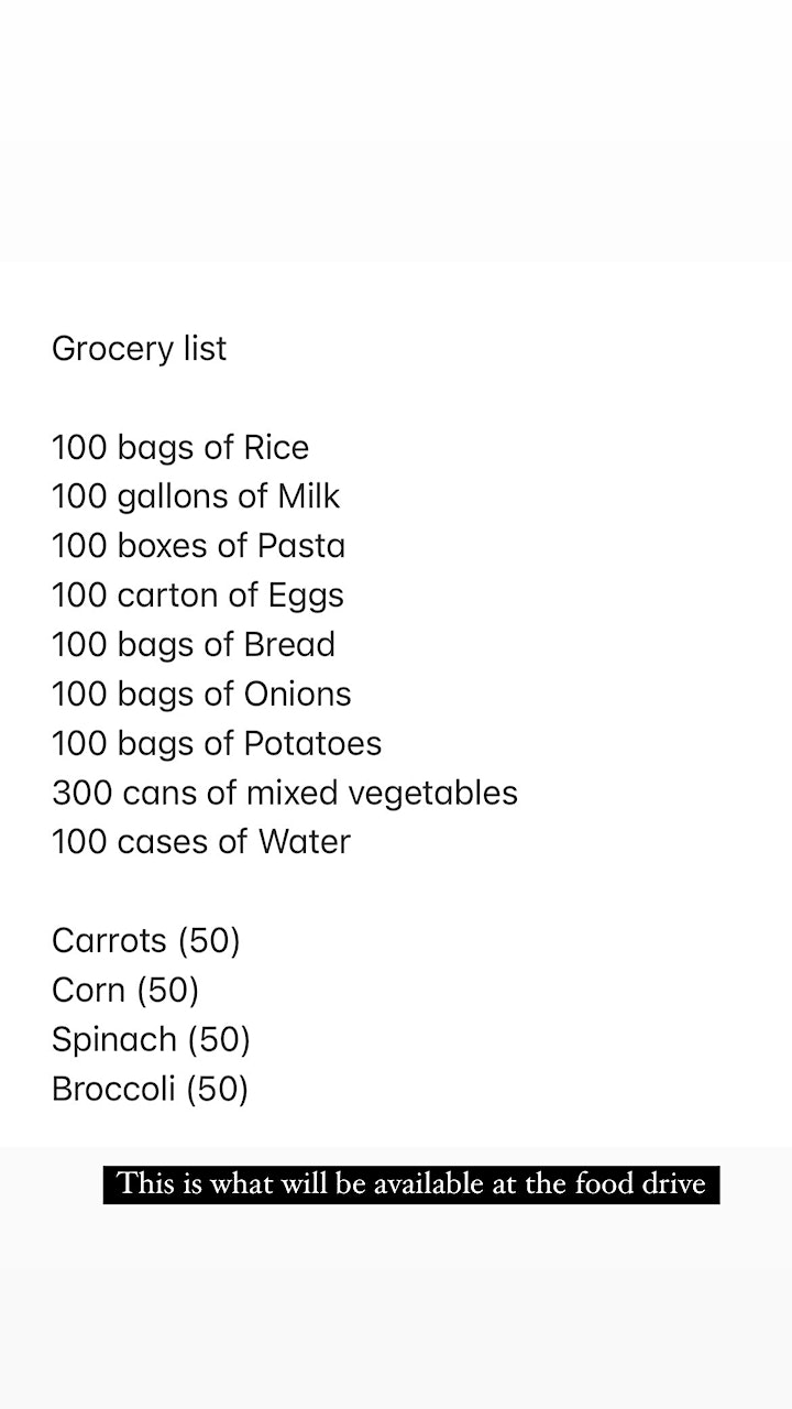 """""""Food for the Community"""" image"""