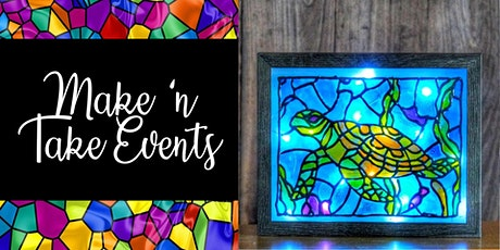 Stained Glass Shadow Box Frame - Sea Turtle tickets