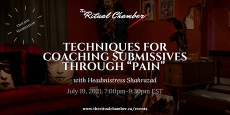 """Techniques for Coaching Submissives Through """"Pain"""" tickets"""