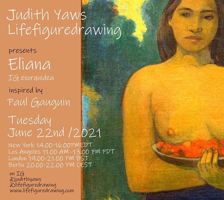 Life Figure Drawing Session /Zoom insp by Gauguin -with Eliana / exorquidea image