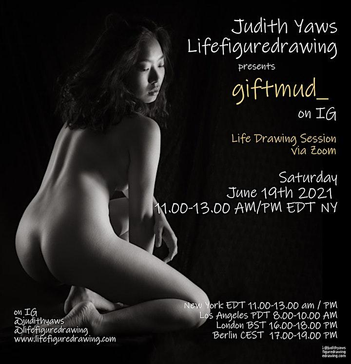 Life Figure Drawing via Zoom - with giftmud image