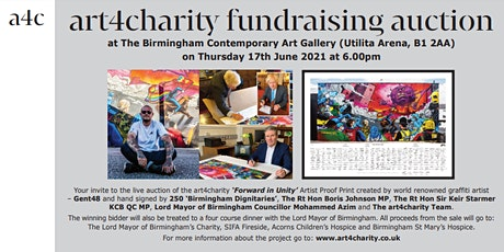 art4charity 'Forward in Unity' Artist Proof Live Auction Event tickets