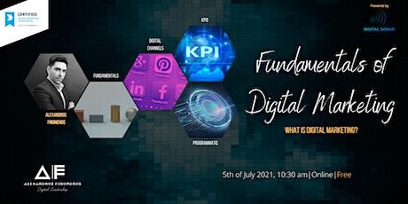 Fundamentals of Digital Marketing tickets