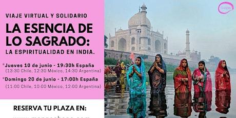 Viaje Virtual y Solidario en vivo a India entradas