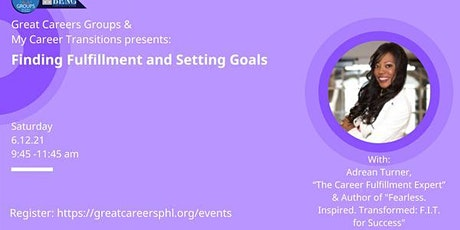 Finding Fulfillment and Setting Goals with Adrean Turner tickets