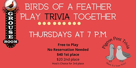 Grouse Room Trivia hosted by Pigeon Post tickets
