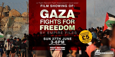 Fundraiser: Gaza Fights For Freedom tickets