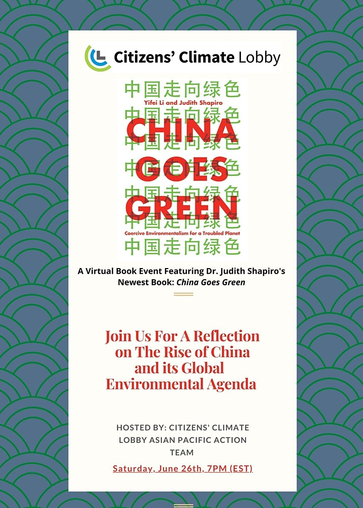 CHINA GOES GREEN - VIRTUAL BOOK EVENT image