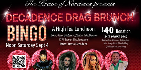 2021 Decadent Drag Brunch Bingo for The Krewe of Narcissus tickets