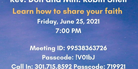 Evangelism Today - How to Share Your Faith tickets