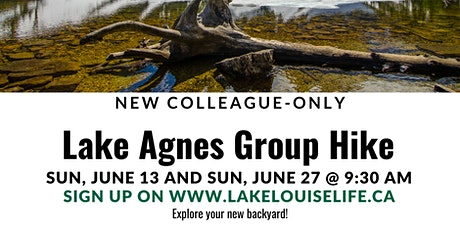 NEW  FCLL Colleagues Only - Lake Agnes Guided Hike tickets