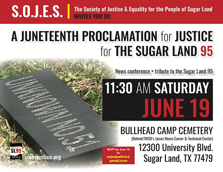 A Juneteenth Proclamation for Justice for the Sugar Land 95 image