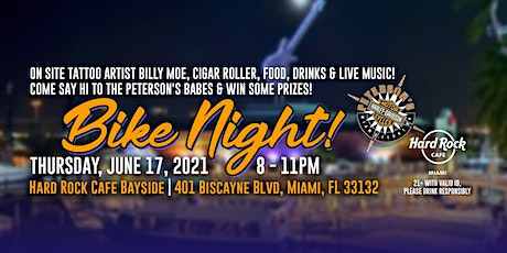 Peterson's Bike Night at Hard Rock Cafe Bayside tickets