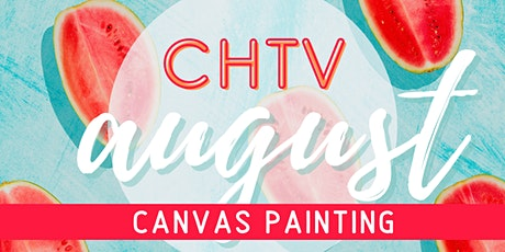 Craft Happy TV Watermelon Canvas Painting Virtual Workshop with Craft Happy tickets