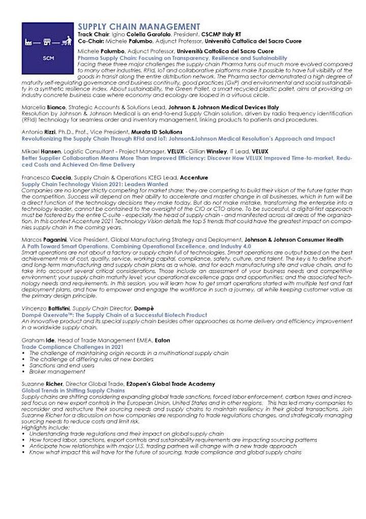 CSCMP European Conference + European Research Seminar  = ITALY 2021 image