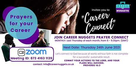 JUNE 2021 - Career Connect - Prayers for your Career tickets