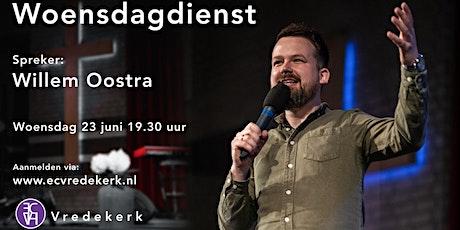 Gebedsavond woensdag 23 juni 19.30  uur Willem Oostra tickets