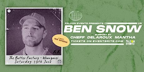 Ben Snow (UK) - Whangarei - June 19th tickets