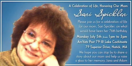 Celebration of Life for Sari Spickler tickets