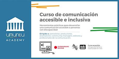Curso de comunicación accesible e inclusiva entradas