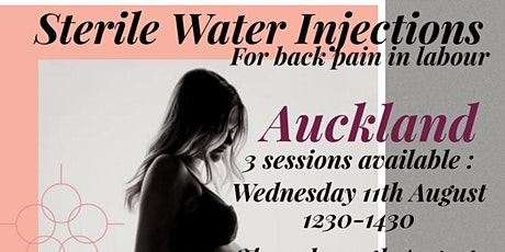 Sterile water injections for labour (Wednesday afternoon session) tickets