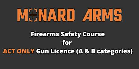 Monaro Arms Firearms Safety Course for ACT Gun Licence tickets