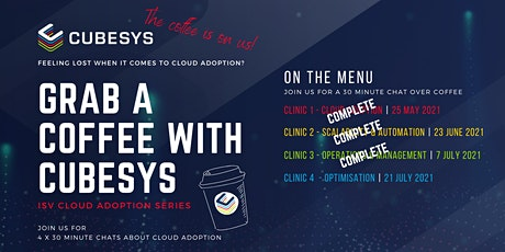 Grab a coffee with cubesys - Clinic 4: Optimisation tickets