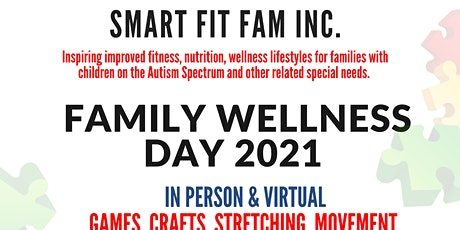 """Special Needs and Friends """"Family Wellness Day """"with Smart Fit Fam, Inc. tickets"""