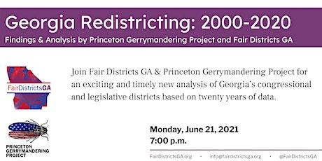 Fair Districts GA Town Hall:  Georgia Redistricting 2000 - 2020 tickets