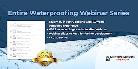 6 Waterproofing Webinars bundle tickets