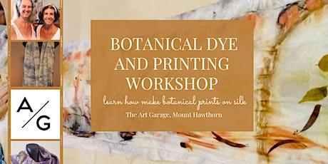 Botanical dye and printing workshop tickets