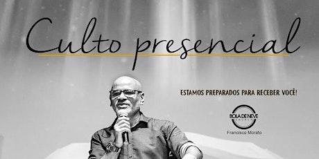 Cultos Bola de Neve Francisco Morato - Domingo 18:00 PM ingressos