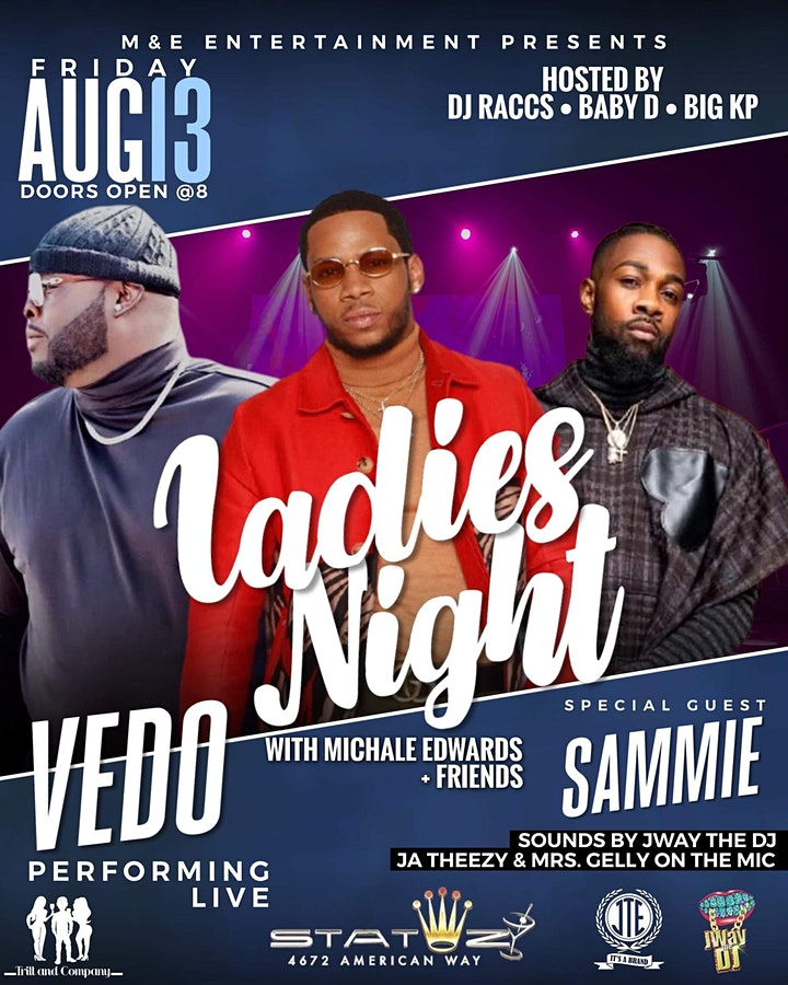 Vedo Performing Live With Special Guest Sammie , Michale Edwards & Friends image