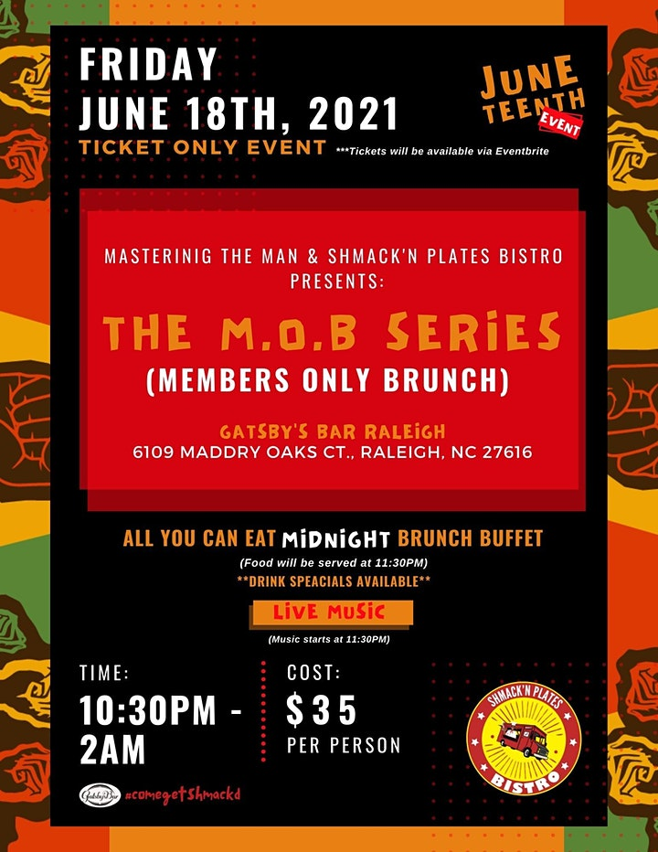 Shmack'n  Brunch Presents: The M.O.B Series (Members Only Brunch) image