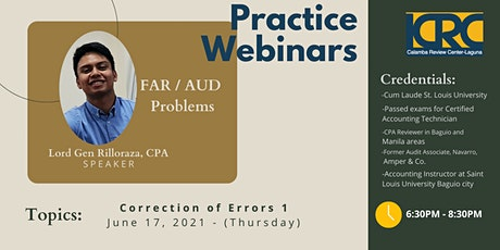 LCRC AUD PROB/FAR Practice Webinars: Correction of Errors 1 tickets