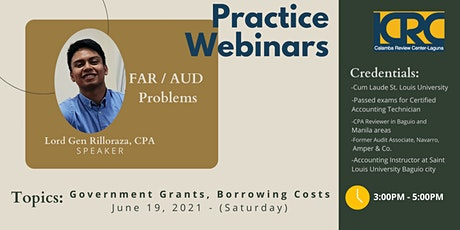 LCRC AUD PROB/FAR Practice Webinars: Government Grants, Borrowing Costs tickets
