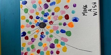 Dandelion Wish Fingerprint on Canvas (a Mommy & Me class) tickets
