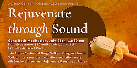 Rejuvenate Through Sound: Live Gong Bath with Gregg Wilkins at Althea tickets