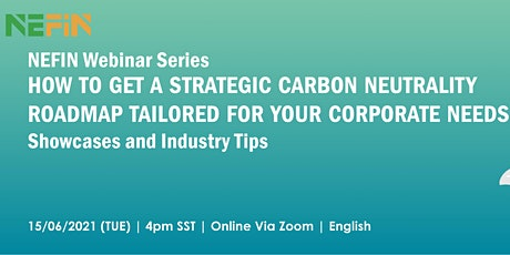 How to get a strategic carbon neutrality roadmap tailored for your needs tickets