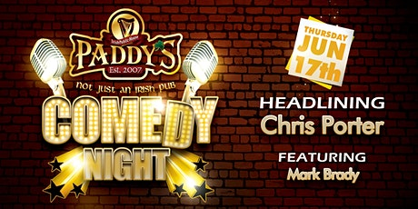 Comedy at Paddy's June 17th tickets