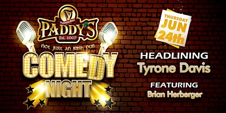 Comedy at Paddy's June 24th tickets