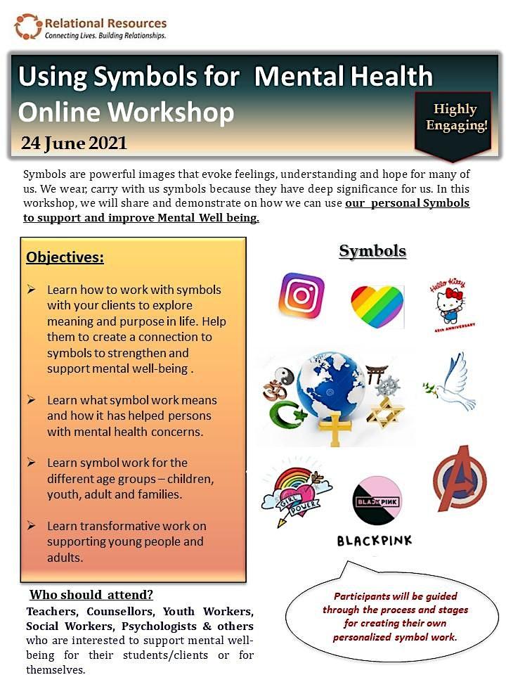 Using Symbols for Mental Health Online Workshop by Dr.Sherwood image