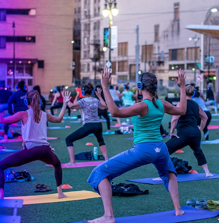 Silent Disco Yoga at Beacon Park by City Glow Yoga™ image