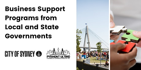 Business support programs from local and state governments tickets