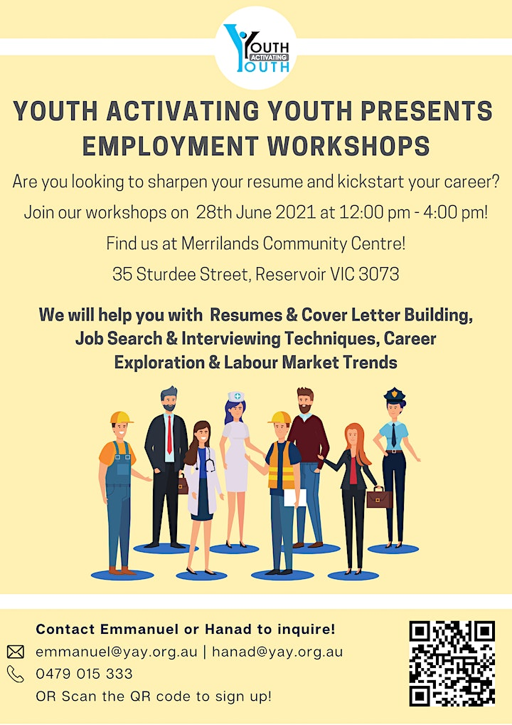 YOUTH ACTIVATING YOUTH PRESENTS EMPLOYMENT WORKSHOPS image