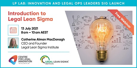 Introduction to Legal Lean Sigma Workshop with Catherine Alman MacDonagh Tickets