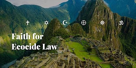 Interfaith call for Ecocide Law - en inbjudan biljetter