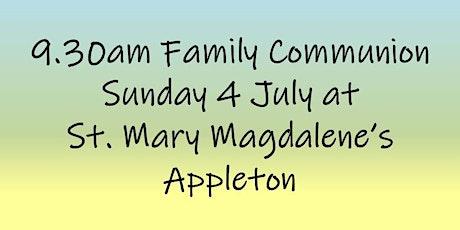 9.30am Family Communion on Sunday 4 July tickets