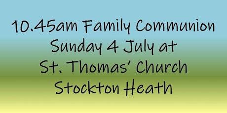 10.45am Family Communion on Sunday 4 July tickets
